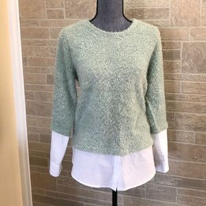 Vince Camuto furry sweater blouse